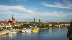 Homeland | Würzburg Skyline - stock footage