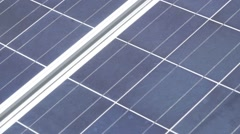 Solar Panel, Slow Motion Dolly Left Stock Footage