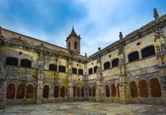 Monastery of Santo Estevo de Ribas de Sil in Galicia, Spain Stock Photos