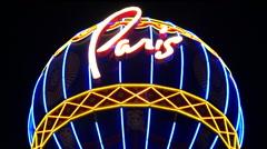 Zoom Out - Paris Casino Balloon on the Las Vegas Strip Stock Footage