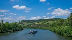 Homeland | Hyperlapse over Main River Stock Footage
