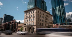 Time lapse of the Canadian Imperial Bank of Commerce. Edmonton, Alberta Stock Footage