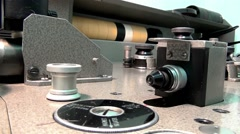 Reader optical record on filmstrip Stock Footage