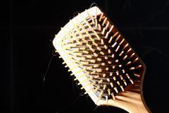 Square hair brush - stock photo