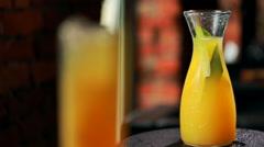 Lemon orange juice Stock Footage