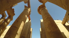 Karnak temple rotation Stock Footage