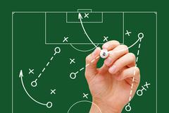 Football Manager Game Strategy Stock Photos