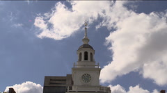 Independence Hall Time-Lapse Stock Footage