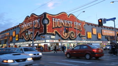 Honest Ed's department store. Bloor and Bathurst, Toronto, Canada. Stock Footage