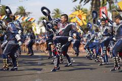 ARICA, CHILE - JANUARY 24, 2016: Caporales Dance Group Stock Photos