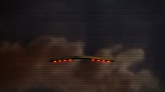 arrow UFO spaceship flyby 22 - stock footage