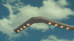 UFO ship flying sky 3 Stock Footage