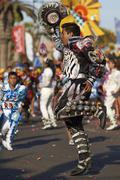 ARICA, CHILE - JANUARY 24, 2016: Caporales Dancer at the Carnaval Andino. - stock photo