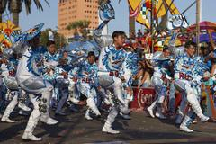 ARICA, CHILE - JANUARY 24, 2016: Caporales Dancers at the Carnaval Andino. Stock Photos