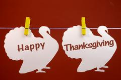 Happy Thanksgiving message greeting Stock Photos