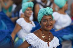 ARICA, CHILE - JANUARY 24, 2016: Dance Group at the Carnaval Andino. Stock Photos