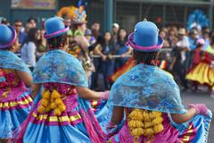 ARICA, CHILE - JANUARY 24, 2016: Morenada Dancers at the Carnaval Andino. - stock photo