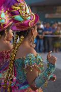 ARICA, CHILE - JANUARY 24, 2016: Morenada Dancers at the Carnaval Andino. Stock Photos
