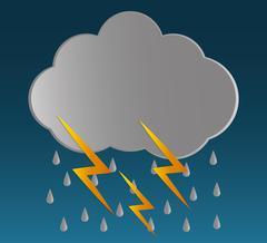 Rain icon design - stock illustration