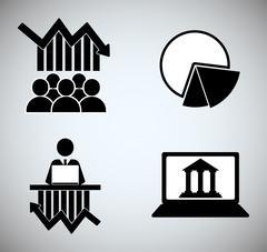 Stock exchange icon design Stock Illustration