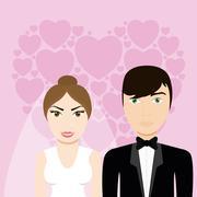 Happy wedding design Stock Illustration