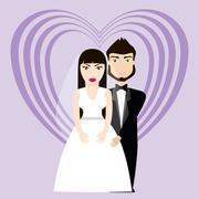 Happy wedding design - stock illustration