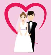 Happy wedding design - stock illustration