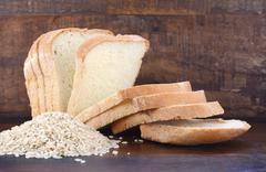 Gluten free rice sour dough bread - stock photo