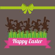 Happy Easter design Stock Illustration