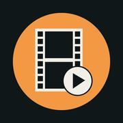 Video icon design - stock illustration