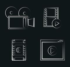 Video icon design Stock Illustration