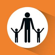 Family icon design Stock Illustration