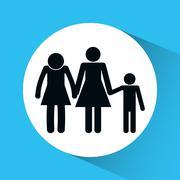 Family icon design - stock illustration