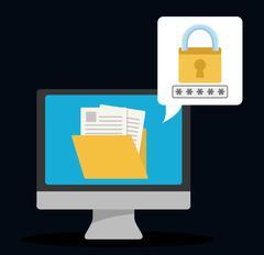 Security system design Stock Illustration
