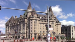 Chateau Laurier Hotel in Ottawa, Canada Stock Footage