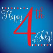 4th of July typographic card in vector format. - stock illustration