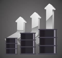 Petroleum Price design - stock illustration