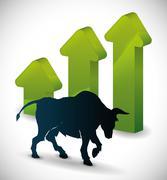 Stock exchange design Stock Illustration