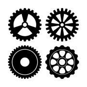 Industrial wheel design, vector illustration - stock illustration