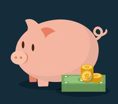 Money savings design, vector illustration Stock Illustration