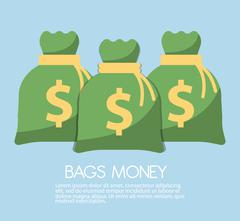 Money saving and money bag icon design, vector illustration - stock illustration