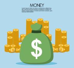 Money savings icon design Stock Illustration