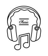 Headphone icon design, vector illustration Stock Illustration