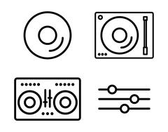 Vinyl icon design, vector illustration Piirros