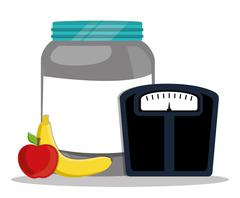 vestor design of Protein Supplement - stock illustration