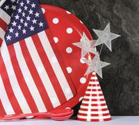 Happy Fourth of July Party Preparation. - stock photo