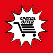 Colorful design of Special Offer , vector illustration - stock illustration