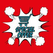 Colorful design of Special Offer , vector illustration Stock Illustration