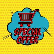 Colorful design of Special Offer , vector illustration - stock illustration