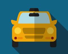 Car taxi icon. Public transport design. Taxi cab. Flat Style Stock Illustration